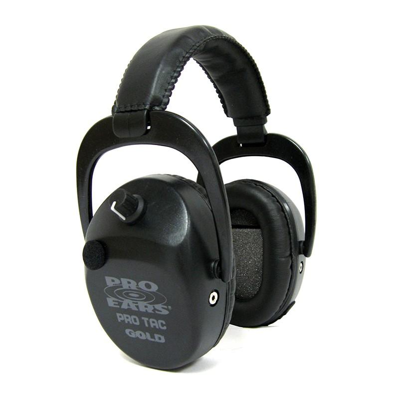 Pro Ears GSPTSTLB Pro Tac SC Gold Black Main View