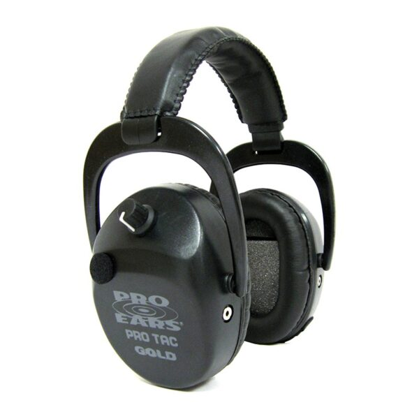 Pro Ears GSPTSTLLB Pro Tac SC Gold Black Lithium Main View