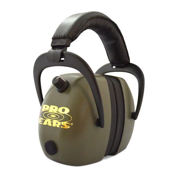 Pro Ears PEG2RMG Gold II 30 Green Main View Electronic Ear Hearing Protection Earmuffs