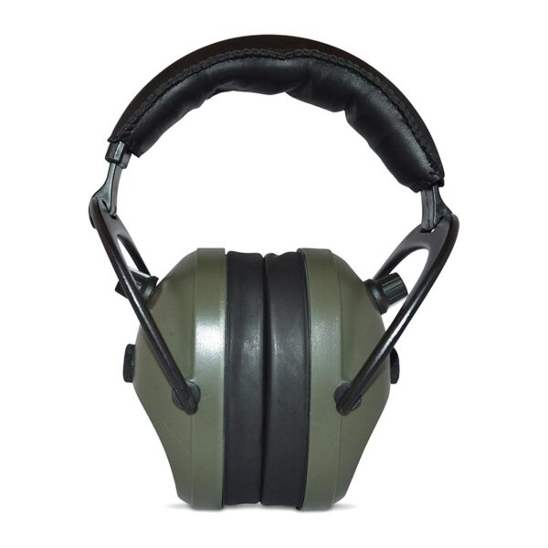Pro Ears PEG2SMG Gold II 26 Green Front View Electronic Ear Hearing Protection Earmuffs
