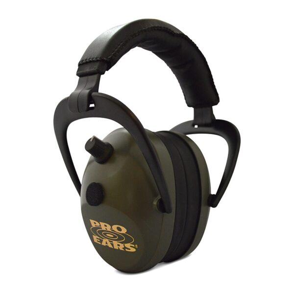 Pro Ears PEG2SMG Gold II 26 Green Main View Electronic Ear Hearing Protection Earmuffs