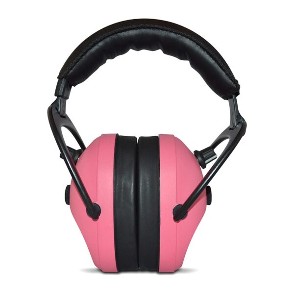 Pro Ears PEG2SMP Gold II 26 Pink Front View Electronic Ear Hearing Protection Earmuffs