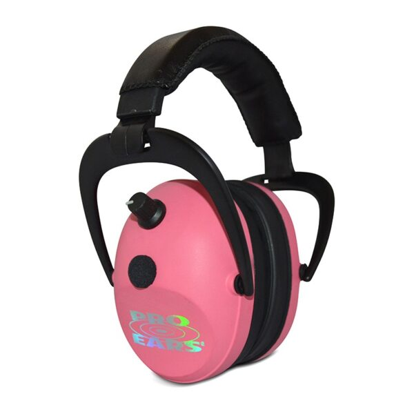 Pro Ears PEG2SMP Gold II 26 Pink Main View Electronic Ear Hearing Protection Earmuffs