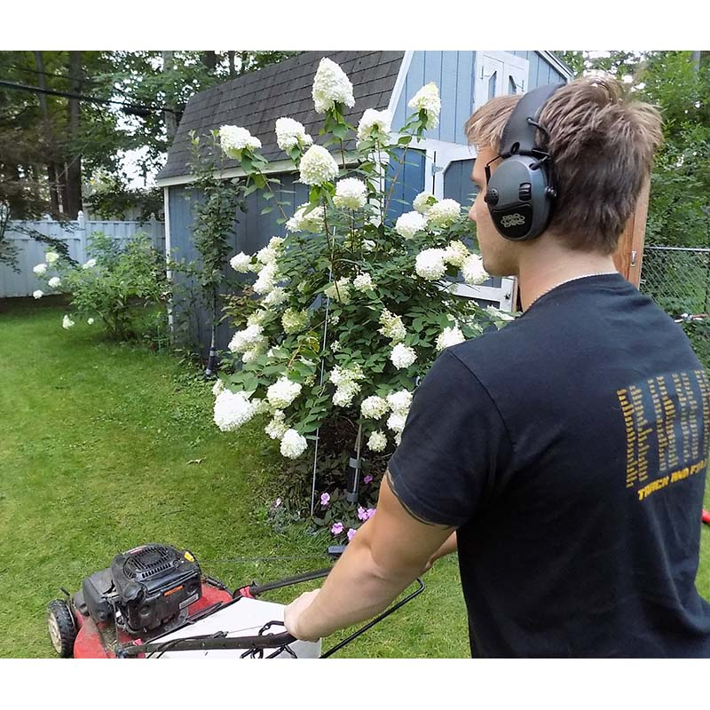 Pro Ears PESILVER Silver 22 Electronic Ear Hearing Protection Amplification Earmuffs Lifestyle Mowing Lawn Maintenance