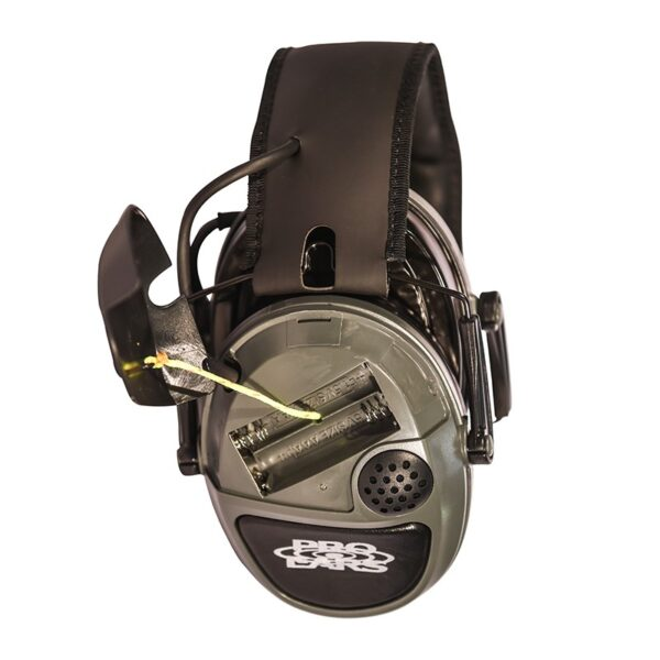 Pro Ears PESILVER Silver 22 Green Battery View Electronic Hearing Protection Amplification Earmuffs