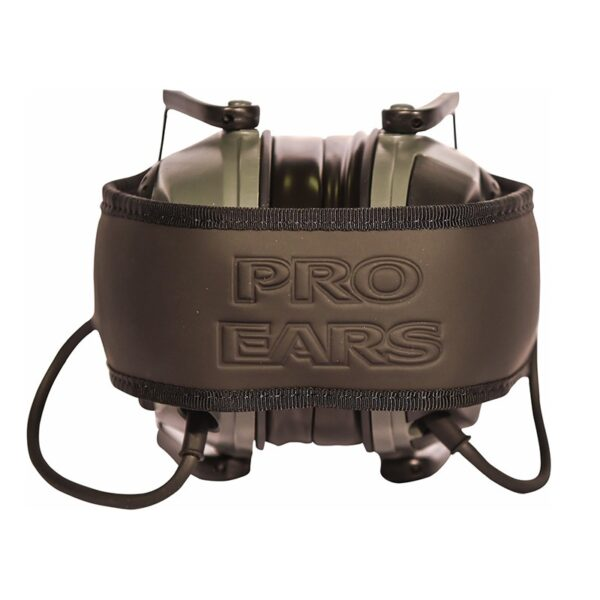 Pro Ears PESILVER Silver 22 Green Folded Top View Electronic Hearing Protection Amplification Earmuffs