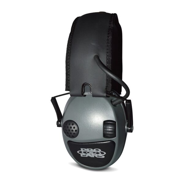 Pro Ears PESILVER Silver 22 Green Side View Electronic Hearing Protection Amplification Earmuffs