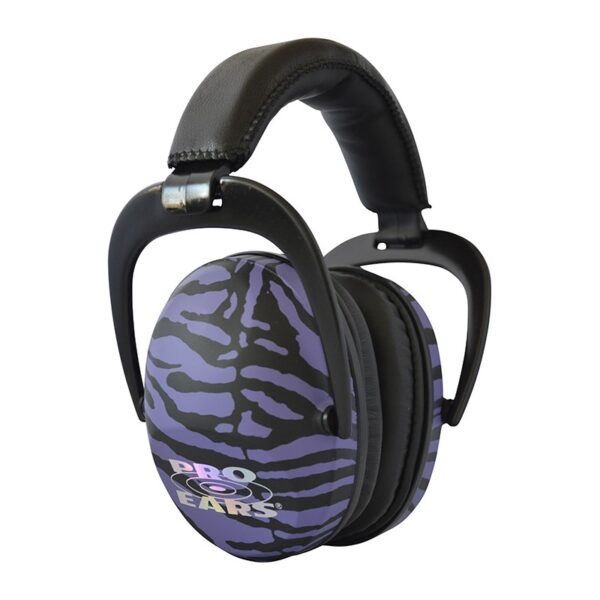 Pro Ears PEUSPUZ Ultra Sleek Purple Zebra Main View