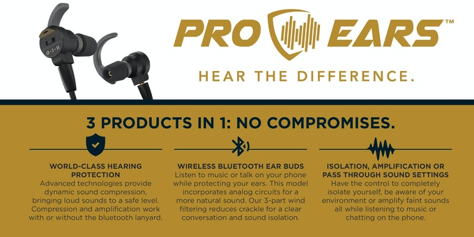 Pro Ears Stealth Elite: 3 Products in 1- No Compromises